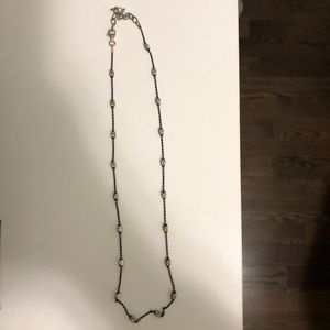Black chain Gem Necklace